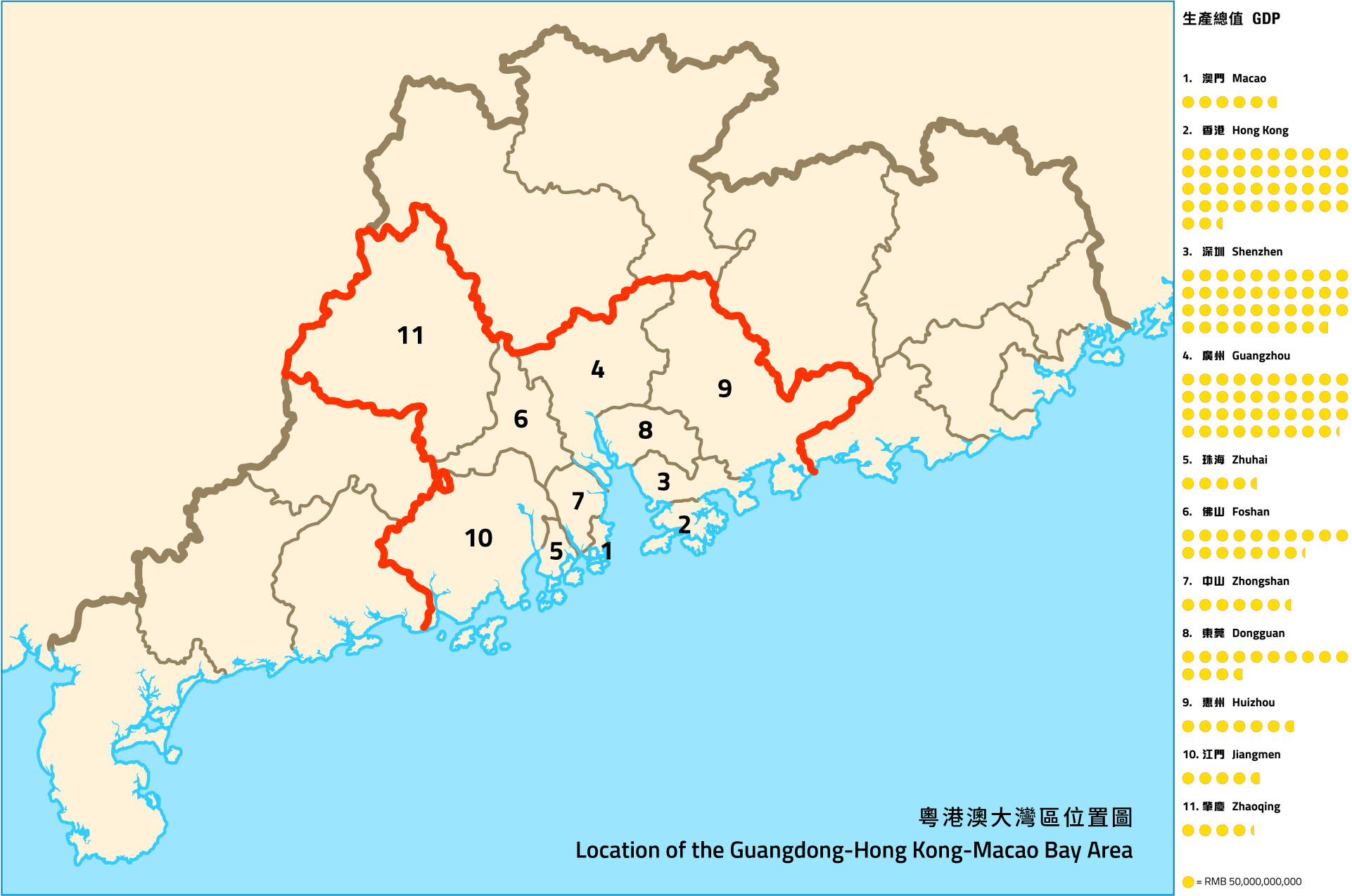 Guangdong hong kong macao bay area growth opportunities abound ipim sources statistical yearbook of guangdong hong kong census and statistics department macao statistics and census service gumiabroncs Images