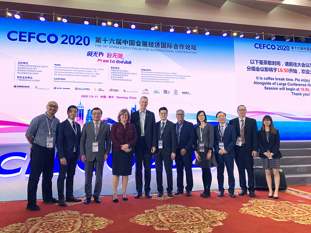 Macao MICE industry delegation and officials of the Global Association of the Exhibition In-dustry (UFI)